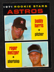 1971 ASTROS BUDDY HARRIS ROGER METZGER  OPC #404 O PEE CHEE NM #2304