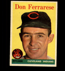 1958 DON FERRARESE TOPPS #469 INDIANS EX *8042