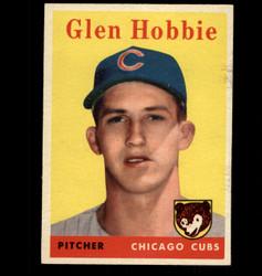 1958 GLEN HOBBIE TOPPS #467 CUBS EX/MT *5940