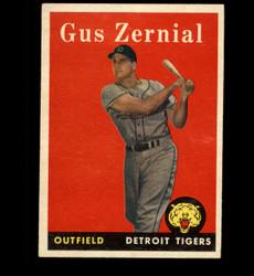 1958 GUS ZERNIAL TOPPS #112 TIGERS EX *7031