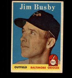 1958 JIM BUSBY TOPPS #28 ORIOLES EX *7521