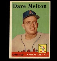 1958 DAVE MELTON TOPPS #391 ATHLETICS EX/MT *2992