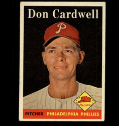 1958 DON CARDWELL TOPPS #372 PHILLIES EX/MT *4060