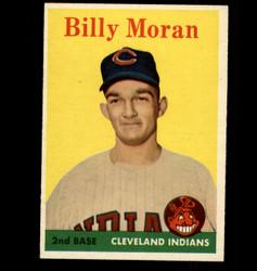1958 BILLY MORAN TOPPS #388 INDIANS EX/MT *7387