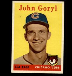 1958 JOHN GORYL TOPPS #384 CUBS EX/MT *4441