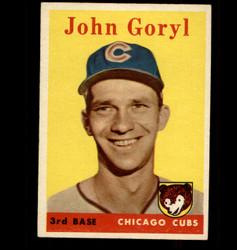 1958 JOHN GORYL TOPPS #384 CUBS EX/MT *5668