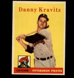 1958 DANNY KRAVITZ TOPPS #444 PIRATES EX/MT *4269
