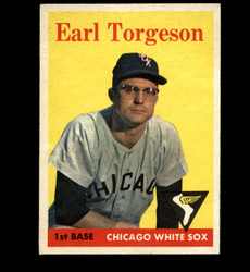 1958 EARL TORGESON TOPPS #138 WHITE SOX EX *1709