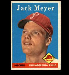 1958 JACK MEYER TOPPS #186 PHILLIES EX *5347