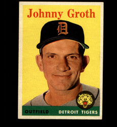 1958 JOHNNY GROTH TOPPS #262 TIGERS EX *4931