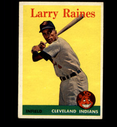 1958 LARRY RAINES TOPPS #243 INDIANS EX *3465