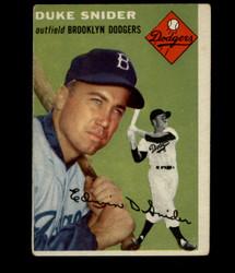 1954 DUKE SNIDER TOPPS #32 DODGERS VG *1011