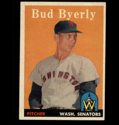 1958 BUD BYERLY TOPPS #72 SENATORS EX/MT *8723