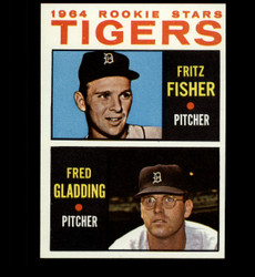 1964 FRITZ FISHER FRED GLADDING TOPPS #312 TIGERS ROOKIE STARS NM/MT *3121