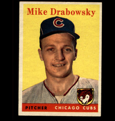 1958 MIKE DRABOWSKY TOPPS #135 CUBS EX/MT *3724
