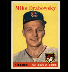 1958 MIKE DRABOWSKY TOPPS #135 CUBS EXMT/NM *1431