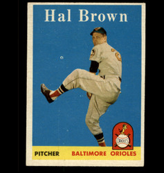 1958 HAL BROWN TOPPS #381 ORIOLES EXMT/NM *5339