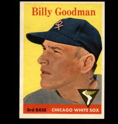 1958 BILLY GOODMAN TOPPS #225 WHITE SOX NM *7599