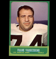 1963 FRANK VARRICHIONE TOPPS #42 RAMS NM *7762