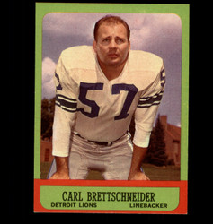 1963 CARL BRETTSCHNEIDER TOPPS #31 LIONS EXMT/NM 2977