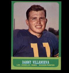1963  DANNY VILLANUEVA TOPPS #43 RAMS EXMT/NM *7713