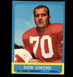 1963 DON OWENS TOPPS #156 CARDINALS EX/MT *6875