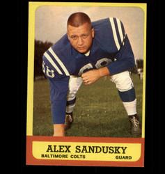 1963 ALEX SANDUSKY TOPPS #6 COLTS EX/MT *6736