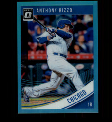 2018 ANTHONY RIZZO DONRUSS OPTIC #107 AQUA PRIZM #/299 CUBS *1674