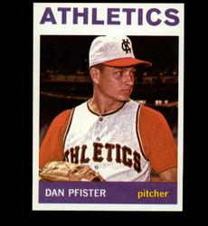 1964 DAN PFISTER TOPPS #302 ATHLETICS NM/MT *7046