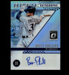 2018 BRETT PHILLIPS DONRUSS OPTIC PRIZM AUTOGRAPHS AUTO *1911