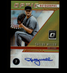 2018 SHELBY MILLER DONRUSS OPTIC GOLD PRIZM #/10  AUTOGRAPHS AUTO *8513