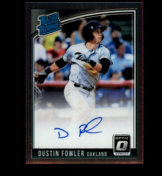 2018 DUSTIN FOWLER DONRUSS OPTIC RATED ROOKIE AUTO *4958