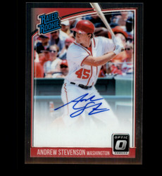 2018 ANDREW STEVENSON DONRUSS OPTIC RATED ROOKIE AUTO *7240
