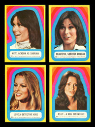 1977 CHARLIES ANGELS TOPPS/OPC COMPLETE SERIES 3 STICKER SET 11/11