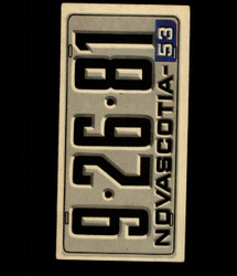 1953 TOPPS LICENSE PLATES #52 NOVASCOTIA *4758