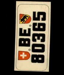 1953 TOPPS LICENSE PLATES #53 SWITZERLAND *7117