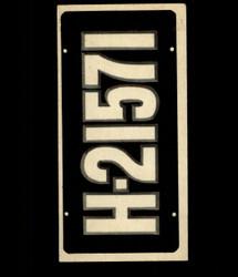 1953 TOPPS LICENSE PLATES #72 NETHERLANDS *8543