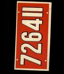 1953 TOPPS LICENSE PLATES #66 BELGIUM *6765