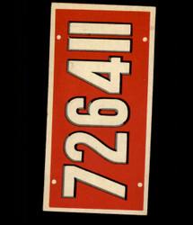 1953 TOPPS LICENSE PLATES #66 BELGIUM *6770