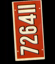 1953 TOPPS LICENSE PLATES #66 BELGIUM *3565