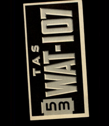 1953 TOPPS LICENSE PLATES #61 AUSTRALIA *2360