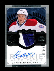 2013 CHRISTIAN THOMAS THE CUP ROOKIE AUTO #/249 PATCH *1163