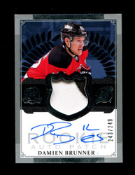 2013 DAMIEN BRUNNER THE CUP ROOKIE PATCH #/249 AUTO *1168