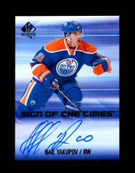 2015 NAIL YAKUPOV SP AUTHENTIC SIGN OF THE TIMES AUTO *1229