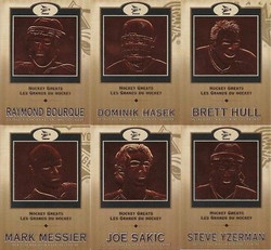 2001 MCDONALDS NHL HOCKEY GREATS PACIFIC COMPLETE 6 CARD SET *1203