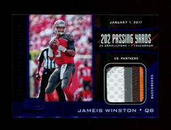 2017 JAMEIS WINSTON CERTIFIED CLUTCH PERFORMERS BLUE #/50 GAME USED PATCH *R1216
