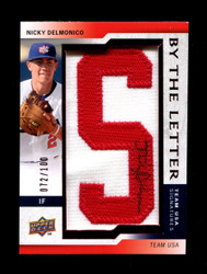 2009 NICKY DELMONICO UPPER DECK USA #/100 BY THE LETTER PATCH AUTO *R1243