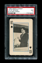 1966 GREEN HORNET 10 OF SPADES PLAYING CARDS PSA 7