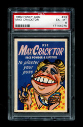 1960 MAX CRACKTOR FONEY ADS #33 PSA 6