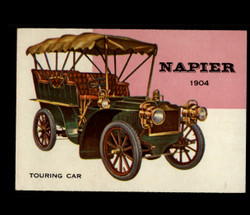 1954 WORLD ON WHEELS TOPPS #104 NAPIER TOURING CAR *R1264